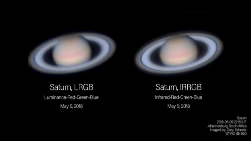 Comparing L-RGB versus IR-RGB at Saturn