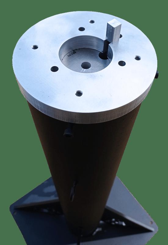 Columna fija de telescopio Lunático Astronomía con adaptador para montura