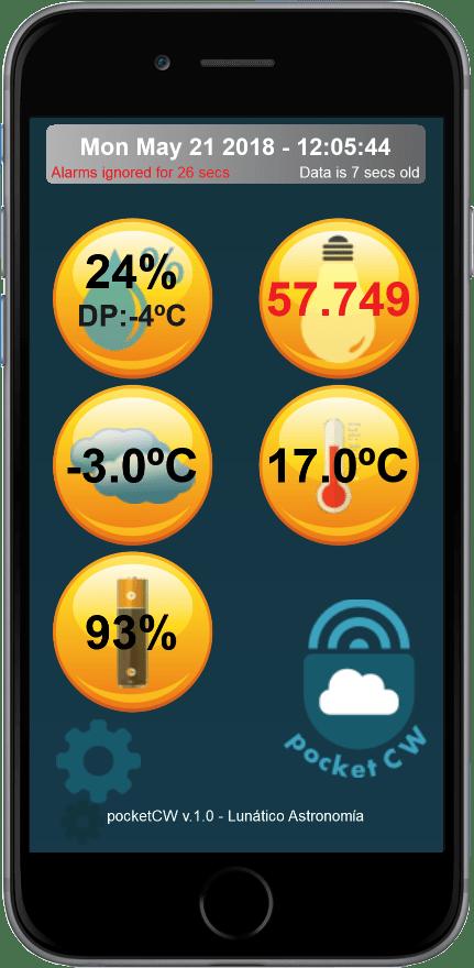 PocketCW pantalla de ejemplo
