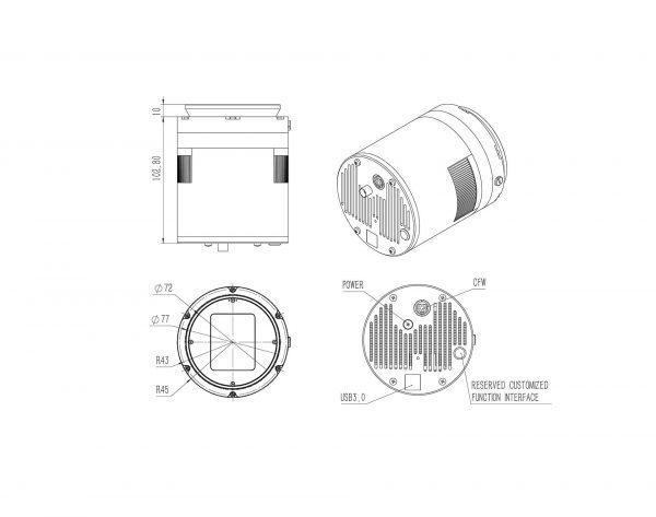 qhy268c - CCD camera aps - c format, 16 bit